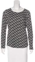 Piazza Sempione Geometric Print Long Sleeve Top