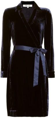 Diane von Furstenberg New Jeanne velvet wrap dress