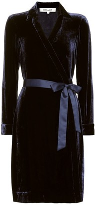 Diane von Furstenberg New Jeanne velvet wrap dress