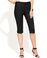 INC International Concepts Petite Pants, Stretch Flat-Front Capri