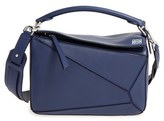 Loewe 'Small Puzzle' Calfskin Leather Bag - Blue/green