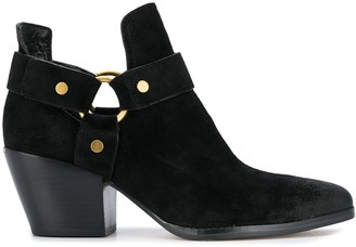 MICHAEL Michael Kors Buckle Leather Ankle Boots