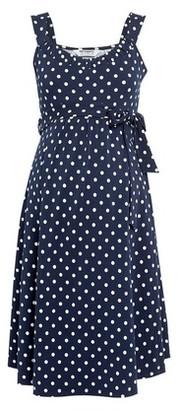 Dorothy Perkins Womens **Dp Maternity Multi Colour Spot Print Ruffle Skater Dress, Multi Colour