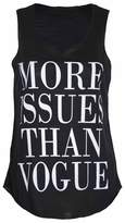"VIP Womens ""More Issues Than Vogue"" Vest Top (M8) (8/10 (uk 12/14), )"