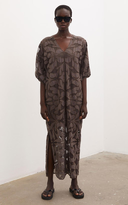 By Malene Birger Dypsia Embroidered Mesh Maxi Dress