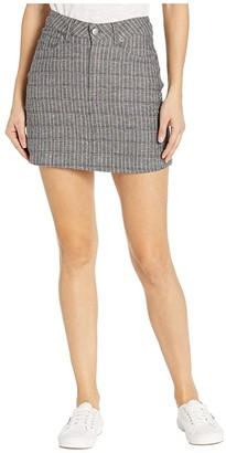 RVCA Rowdy Mini Plaid (Grey) Women's Skirt