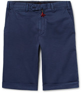 Isaia Stretch-Cotton Twill Shorts