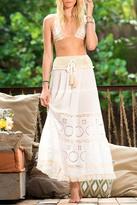 Surf Gypsy Crochet Eyelet Maxi Skirt