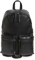 Topman Faux Leather Backpack