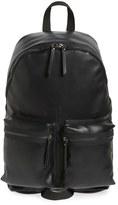 Topman Men's Faux Leather Backpack - Black