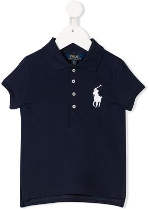 Ralph Lauren Kids Logo-Embroidered Plain Polo Shirt
