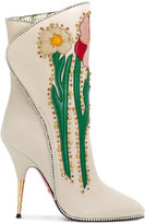 Gucci Flower intarsia boots