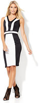 New York & Co. 7th Avenue Design Studio - Colorblock Midi Sheath Dress
