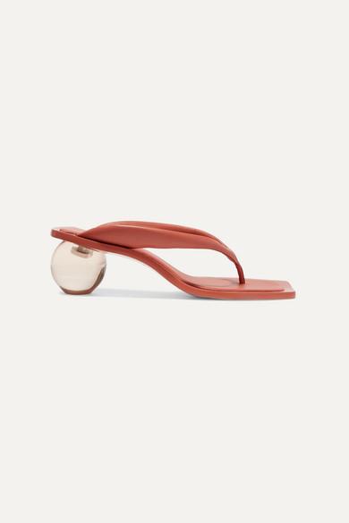 Cult Gaia Jasmin Leather Sandals - Tan