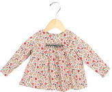 Bonpoint Girls' Floral Print Crew Neck Top