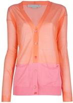 Stella McCartney bi-colour cardigan