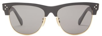 Celine D-frame Acetate And Metal Sunglasses - Mens - Black