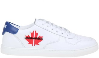 DSQUARED2 Maple Gym Sneakers In White Leather