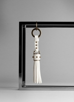 Plissé Leather Key Chain Charm