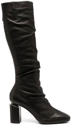 Vic Matié Ruched Mid-Calf Boots