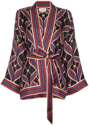 Gucci tie-waist kimono-style jacket
