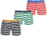 Jack and Jones Striped 3 Pack Trunks