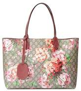 Gucci Medium GG Blooms Reversible Canvas & Leather Tote