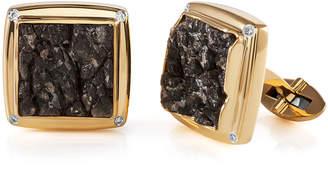 Jorge Adeler Men's 18K Yellow Gold Obsidian & Diamond Cufflinks