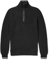 Lanvin - Cotton-blend Half-zip Sweater
