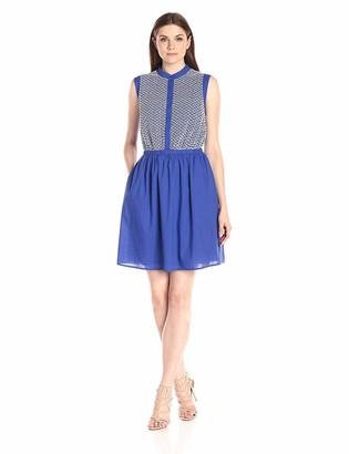 Lark & Ro Amazon Brand Women's Sleeveless Embroidered Shirt Dress