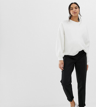 Asos DESIGN Maternity chino pants with under the bump waistband-Black