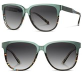 Shwood Women's 'Mckenzie' 57Mm Sunglasses - Blue Opal/ Titanium/ Grey