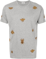 Valentino embroidered insect T-shirt - men - Cotton/Polyester/Metallic Fibre - S