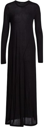 ATM Anthony Thomas Melillo Modal Jersey Crewneck Seamed Maxi Dress