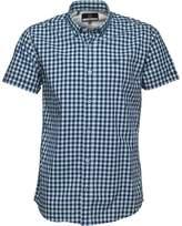 Duck and Cover Mens Galloway Short Sleeve Shirt Aquamarine