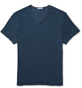 James Perse - Slub Cotton And Linen-blend Jersey T-shirt