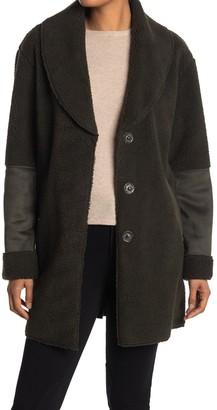 Kensie Faux Shearling Shawl Collar Coat