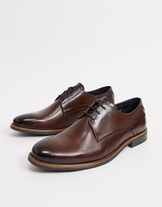 Base London lace up shoes in brown leather