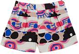 Milly ABSTRACT-FLORAL FAILLE SHORTS