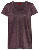 HUGO Sparkly T-shirt with scoop neckline