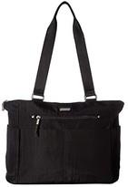 Baggallini New Classic Destination Tote with RFID Wristlet (Black) Handbags