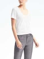 Banana Republic Short-Sleeve Linen Signature Scoop Tee