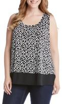 Karen Kane Plus Size Women's Sheer Hem Tank