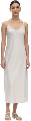 Max Mara Satin & Lace Slip Dress