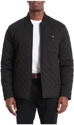 Bagatelle Men's Sport Water-Resistant Quilted Bomber Jacket