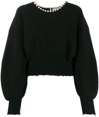 Alexander Wang embellished long-sleeve jumper