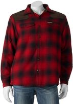 Men's Field & Stream Classic-Fit Plaid Sherpa-Lined Shirt Jacket
