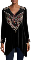 Johnny Was Landon Embroidered Velvet Tunic, Plus Size