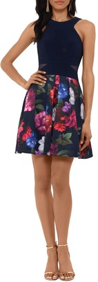 Xscape Evenings Floral Cocktail Dress