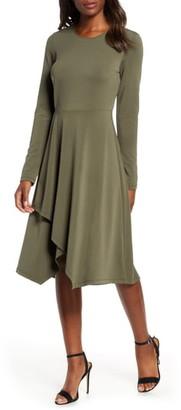 Leota Gemma Crepe Pleat Knit Dress